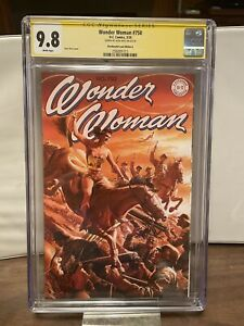 Wonder Woman #750 (2020) CGC SS 9.8 - AWESOME Retro COVER - Signed Alex Ross Hot
