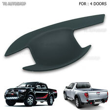 4 Door Matte Black Handle Bowl Insert Cover For Mitsubishi Triton L200 2005-2014