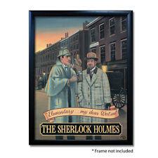 SHERLOCK HOLMES PUB SIGN POSTER PRINT | Home Bar | Man Cave | Pub Memorabilia