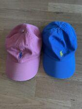 2 Polo Ralph Lauren Men's Buckle Closure Pony Caps