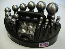 Doming Block Jeweler Dapping Punch 24 PCS SET CARRY CASE Metal Forming  DURSTON