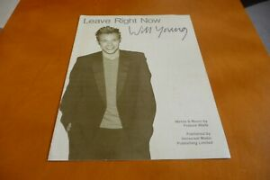 WILL YOUNG LEAVE RIGHT NOW  ORIGINAL UK 2003  SHEET MUSIC