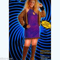 Plus Size Leopard Disco Diva Big Daddy's Girl Women's costume size XL/2XL