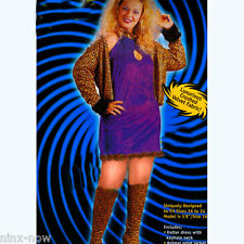 Plus Size Leopard Disco Diva Big Daddy's Girl Women's costume size XL/2XL
