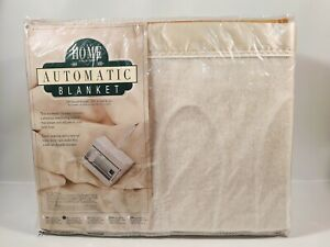 NOS Heated Electric Blanket FULL Acrylic Satin Trim JC Penney Collection Vtg NEW