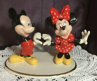 """LENOX DISNEY MICKEY & MINNIE """"Two Hearts As One """" Porcelain Figurine New w/COA"""