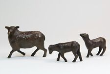 More details for solid bronze - sheep and lambs   - steve boss - superb gift - new