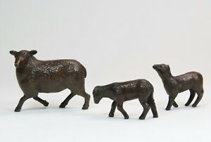 Solid Bronze - Sheep and Lambs   - Steve Boss - Superb Gift - New