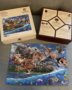 WENTWORTH MIGRATION ANIMAL 100 PIECE JIGSAW PUZZLE WITH BOX