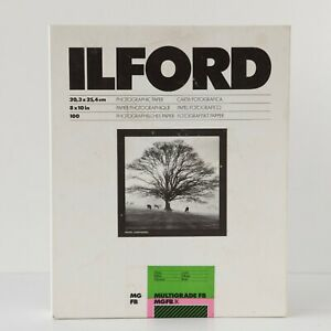 """NOS Ilford Multigrade FB Glossy B/W Double Weight Paper 8 x 10"""" 100 Sheets"""
