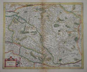 HUNGARY - HUNGARIA FOR THE MERCATOR / HONDIUS ATLAS, CIRCA 1630.
