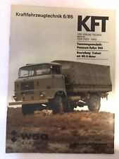 Kraftfahrzeugtechnik KFT 06/1985 IFA W 50 LKW Trabant Selten Ost DDR Geschenk
