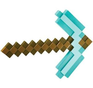 Minecraft Pick Axe Plastic Toy Weapon Fancy Dress Up Halloween Costume Accessory