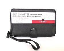Mundi Women FAT Wallet PHONE HOLDER Faux Leather Ladies RFID Clutch Black I734X