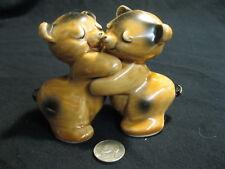 Vintage Van Tellingen Bear Cuddle Hug Salt and Pepper Shakers Ceramic         62