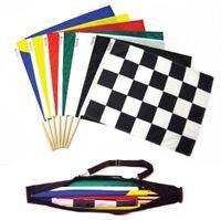Official NASCAR SCCA Professional Race Track Flag Set Racing Flags Premium