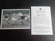 GERMANY v IRELAND 1952 match action TRADE CARD Original from Austria ??