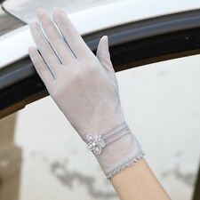 Woman Lace Bride Solid Ceremony Glove Breathable Wedding Gloves Driving Mittens