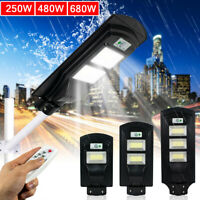 Solar Street Lamp with Motion Sensor LED Outdoor Security Light IP65 Waterproof