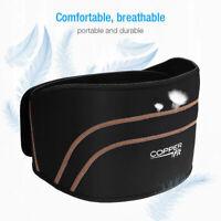 Copper Fit Back Brace Compression Adjustable Lower Lumbar Support Belt S/M L/XL