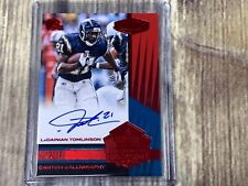 2017 Panini Plates & Patches Canton Calligraphy RED Auto LADANIAN TOMLINSON 2/3