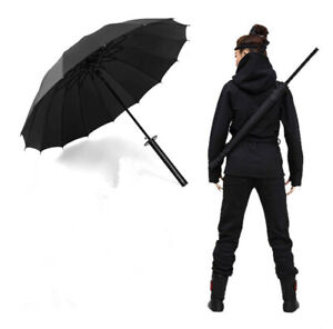 Japan Katana Creative Anti Sun Windproof Long Handle Large Men's Umbrella New