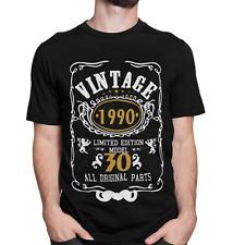 Vintage Edad Cumpleaños De Calidad Premium T-Shirt edades 18/21/30/40/50/60/70 S a 5XL