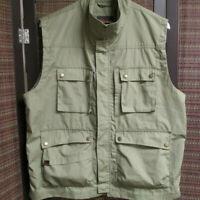 NORTHWEST TERRITORY Mens, full zip, sporting vest, sz.M, 8 pockets, olive green
