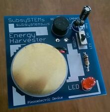 Piezoelectric Energy Harvester - science fair project, experimentation kit