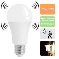 E27 Radar Sensor ENERGY SAVING LED Globe Bulb Light Lamp Practical 7W/12W