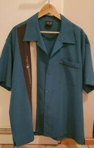 Steady Bowling Shirt, Größe 2X (XXL), türkis, wie neu