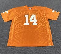 NCAA Official University Of Tennessee Volunteers Football Jersey XL #14 Orange