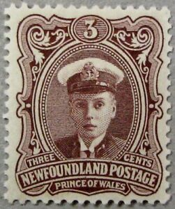 """1911 NEWFOUNDLAND #106: F/VF MH """"Prince of Wales"""" - from the 'Royal Family' set"""