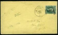 US 1861 10¢ Washington (68) Made-Up Philatelic Cover Stamp Genuine $55.00