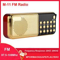 Mini Portable LCD Digital FM Radio LED Speaker USB TF Card MP3 Music Player TB