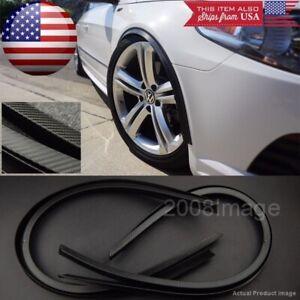 """4 Piece 47"""" Black Carbon Arch Wide Body Fender Extension Lip Guar For VW Porsche"""