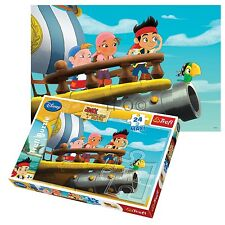 Trefl 24 Piece Maxi Boys Disney Jake & Pirates Large Pieces Jigsaw Puzzle NEW
