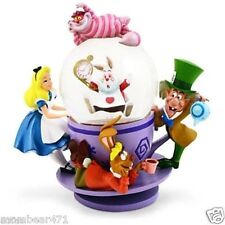 Disney Parks Alice in Wonderland Cheshire Cat Tea Cup Boxed Snow Globe New