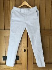 Mens Reiss White Trousers Size 30