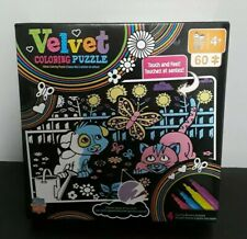 NEW MasterPieces Velvet Coloring of Puppy and Kitty - 60 Piece Kids Puzzle