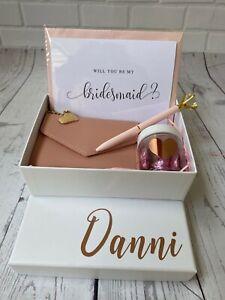 Personalised Bridesmaid Proposal Gift Box, Filled Thank You Bridesmaid Box