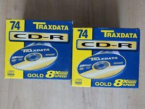 20 Stück TRAXDATA CD-R 74 Min gold 8x Speed CD Rohlinge 650 MB