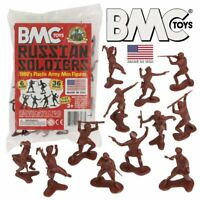 BMC Classic Marx WW2 Russian Plastic Army Men - Rust Brown 36pc Figure Set