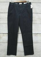 St John's Bay Womens 6 Secretly Slender Straight Leg Mid Rise Stretch Jeans New
