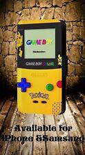 Retro Nintendo Game Boy Pokemon Pikachu Edición De Imitación de Cuero a presión Funda De Teléfono 311