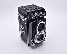 Rollei Rolleiflex TLR Film Camera Carl Zeiss Tessar f/3.5 75mm Lens READ (#5411)
