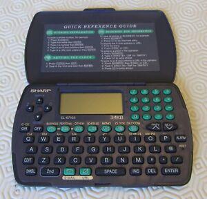 +++ VINTAGE SHARP EL-6710S 34KB ELECTRONIC ORGANISER +++
