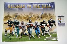 Dorsett Staubach Campbell Hornung Heisman To The Hall Signed 16x20 photo JSA COA