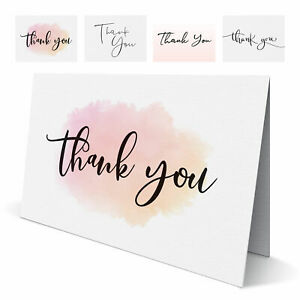 Folded Wedding Thank You Cards - Pack of 10