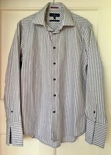 """Next Collection Mens Grey Striped Shirt 15.5"""""""